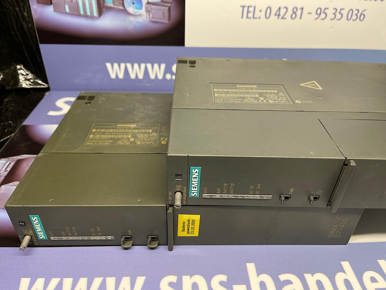 6ES7407-0KA01-0AA0   PS407   gebraucht
