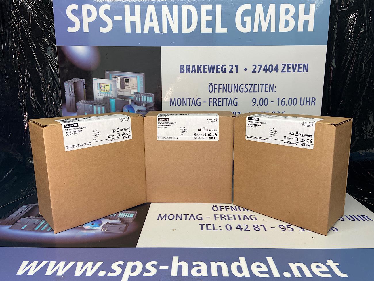 6ES7515-2AM02-0AB0   S7-1500   CPU 1515-2 PN   NEU Siegel 26%