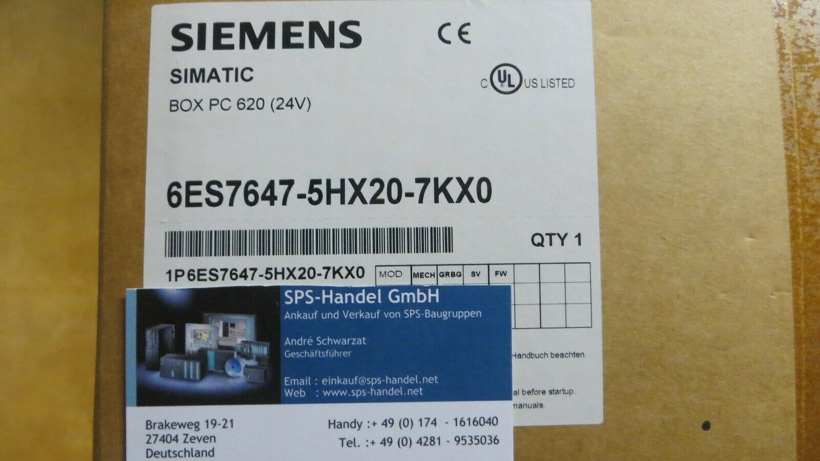 6ES7647-5HX20-7KX0 | PC 620 | NEU Siegel offen