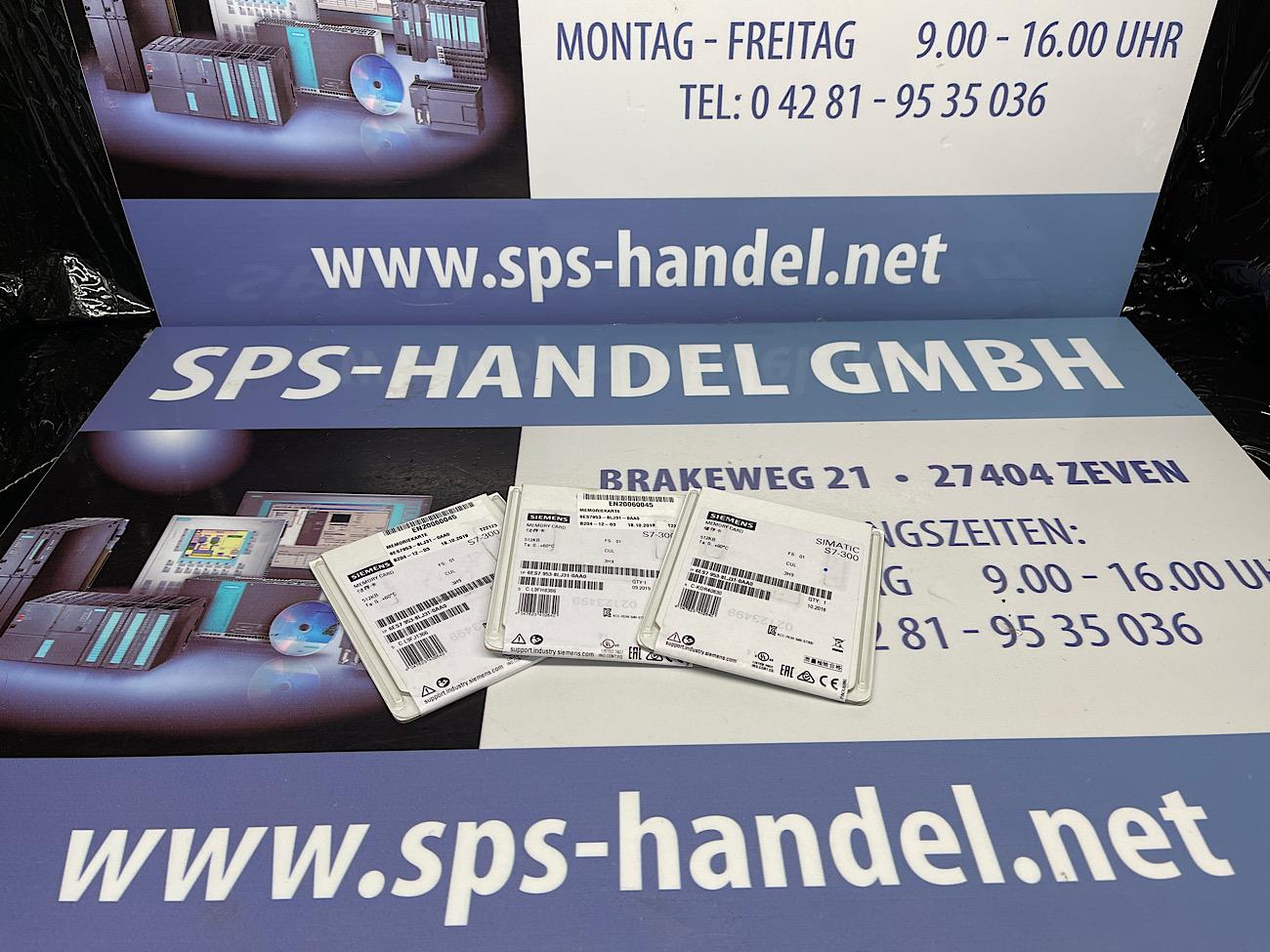 6ES7953-8LJ31-0AA0 | MMC 512KB | NEU Siegel 30%
